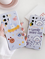 cheap -Case for Huawei P 30 30pro 40 40pro Mate 20 20pro 30 30pro Transparent Back Cover Word Phrase Cartoon TPU