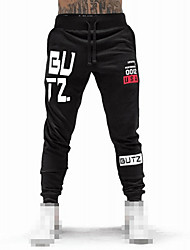 cheap -Men's Joggers Jogger Pants Track Pants Sports Pants Sweatpants Athletic Bottoms Drawstring Cotton Fitness Gym Workout Performance Running Training Breathable Quick Dry Soft Normal Sport Black / Red