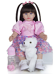 cheap -KEIUMI 19 inch Reborn Doll Baby & Toddler Toy Reborn Toddler Doll Baby Girl Gift Cute Lovely Parent-Child Interaction Tipped and Sealed Nails Half Silicone and Cloth Body with Clothes and Accessories