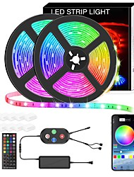 cheap -Led Strip Lights 10M Smart RGB Led Light Strip Music Sync 600LEDs Color Changing Light Strips Bluetooth APP Control with Remote for Bedroom Room TV Party Bedroom Room TV Backlight PC Desk Kitchen