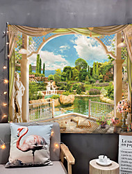 cheap -Window Landscape Wall Tapestry Art Decor Blanket Curtain Picnic Tablecloth Hanging Home Bedroom Living Room Dorm Decoration Polyester Garden Flower Lake Waterfall
