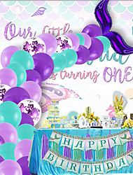 cheap -Party Balloons 40+2 pcs Mermaid Party Supplies Mermaid Tail Balloon Garland Mermaid Arch Kit All 12inch for Party Favors Supplies or Home Decoration / Kids