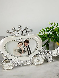 cheap -White princess carriage wedding photo frame European style creative stage