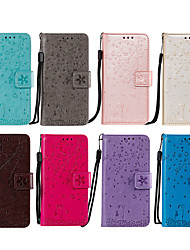 voordelige -case voor apple iphone7 8 7plus 8plus xr xs xsmax x se 11 11pro 11promax kaarthouder flip patroon full body cases kat sakura bloem dier pu leer tpu