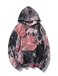 cheap -Women's Hoodie Tie Dye Casual Purple M L XL XXL