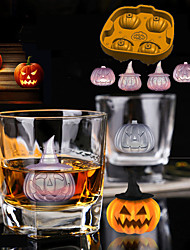 cheap -Halloween Pirate Pumpkin Ice Model Pumpkin Head 3D Ice Box Gift Chocolate Mold Ice Tools Full Body Silicone Cute Party Evening Drinkware