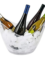 cheap -Ice Bucket Clear Acrylic Plastic Tub 1Pc for Drinks and Parties