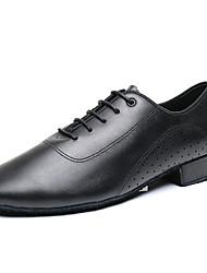 cheap -Men's Latin Shoes Heel Thick Heel Black