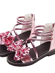 cheap -Girls' Comfort PU Sandals Little Kids(4-7ys) Purple / Pink / Silver Summer