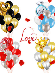 cheap -Party Balloons 12+1 pcs Valentine's Day Party Supplies Latex Balloons Paper Pom Poms Boys and Girls Party Wedding Decoration 12inch for Party Favors Supplies or Home Decoration