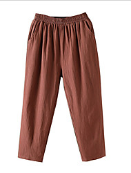cheap -Women's Basic Daily Chinos Pants - Solid Colored White Black Red M / L / XL
