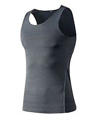 cheap -Men's Compression Shirt Sleeveless Compression Vest / Gilet Base Layer Tank Top Lightweight Breathable Quick Dry Soft Sweat-wicking Red Blue Grey Road Bike Fitness Mountain Bike MTB Stretchy