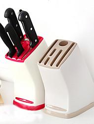 cheap -Multifunctional Knife Storage Rack Universal Kitchen Accessories Light Drain Plastic Knife Holder