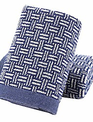 cheap -Hand Towels Set of 2 100% Cotton Checkered Pattern Highly Absorbent Soft Towel for Bathroom 13 x 29 inch