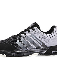 cheap -Unisex Trainers Athletic Shoes Sporty Casual Daily Outdoor Running Shoes Fitness & Cross Training Shoes Walking Shoes Tissage Volant Breathable Wear Proof Black / White Black / Red Green Fall Summer