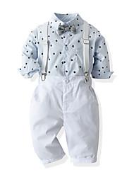 cheap -Baby Boys' Casual Basic Print Long Sleeve Long Long Clothing Set White