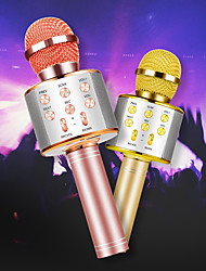 cheap -Wireless Bluetooth Karaoke Microphone Professional Speaker Portable Singing Recorder