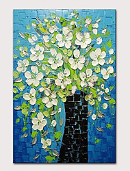 cheap -Mintura Hand Painted Knife Flowers Oil Paintings on Canvas Modern Abstract Wall Picture Pop Art Posters For Home Decoration Ready To Hang