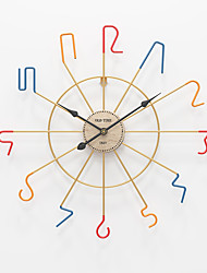 """cheap -Large Decorative Wall Clock, 20"""" Round Oversized Colorful Modern Home Decor Ideal for Living Room, Analog Metal Clock 50cm*50cm"""