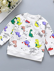 cheap -Baby Boys' Basic Rainbow Long Sleeve Hoodie & Sweatshirt White