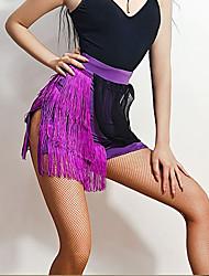 זול -ריקוד לטיני חצאיות פרנזים מפרק מפוצל בגדי ריקוד נשים הדרכה הצגה משי קרח