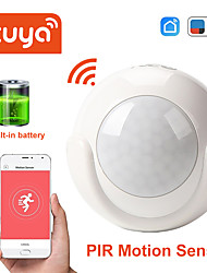 cheap -Mini WIFI PIR Motion Sensor built-in battery Hole-free installation Human Body Sensor Body Wireless Infrared Detector