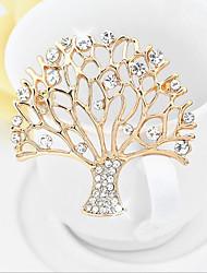 cheap -Alloy Brooch with Crystals / Rhinestones 1pc Wedding / Daily Wear Headpiece