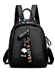 cheap -Women's Girls' Oxford School Bag Rucksack Mini Backpack Large Capacity Waterproof Zipper Solid Color Printed Daily Office & Career Backpack 2021 Black