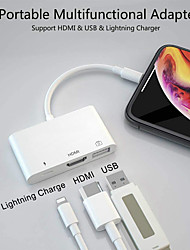 Недорогие -3 в 1 iphone Ipad USB-адаптер освещения для HDMI с зарядным портом 1080 P HDMI цифровой аудио-видео адаптер для ТВ-проектора монитора