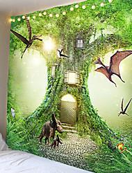 رخيصةأون -خيال الحيوانات المفروشات تحت الشجرة لتعليق القماش القماش القماش الزخرفي في الخلفية. 100٪ ألياف بوليستر