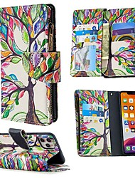 cheap -Case For Apple iPhone SE 2020 iPhone 11 Pro iPhone 11 Pro Max Wallet  Card Holder with Stand Full Body Cases Tree PU Leather iPhone XS Max XR X 8 7 Plus 6 6s