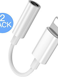 cheap -2 Pack Lightning to 3.5 mm Headphone Jack Adapter Connector Aux Audio Headphone Dongle Stereo Cable for iPhone Support iOS 13