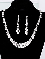 cheap -Women's Bridal Jewelry Sets Earrings Jewelry Silver For Wedding Party Gift Engagement Festival 1 set