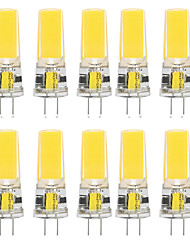 cheap -10pcs 10 W LED Silica Gel Corn Lights LED Bi-pin Lights  G4 2508COB High Power LED Creative Party Decorative Crystal Chandelier Light source Energy-saving Light Bulbs Warm White White AC/DC12 V
