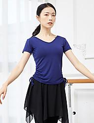 cheap -Ballet Top Ruching Bandage Women's Training Performance Short Sleeve High Modal