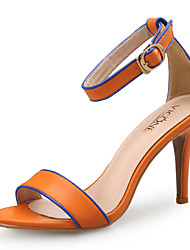 cheap -Women's Sandals Spring Fall Pumps Open Toe Office & Career Home Leather Black / Orange