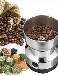 cheap -Electric Coffee Bean Grinder 220V-240V Stainless Steel Blade Coffee Bean Grinder EU Plug Silver