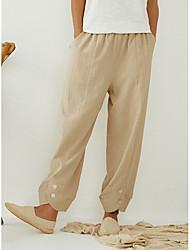 cheap -Women's Basic Bloomers Pants - Solid Colored Black Khaki M / L / XL