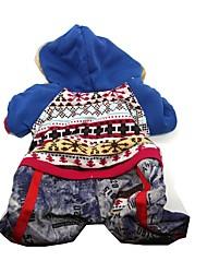 cheap -Dog Jumpsuit Dress Fashion Dog Clothes Red Costume Polar Fleece XS S M