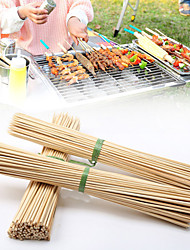cheap -85pcs Disposable Wood Sticks Barbecue Tools Natural BBQ Bamboo Skewers for Shish Kabob Grill Fruit Vegetable