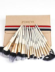 cheap -Professional Makeup Brushes 16pcs Soft Adorable Artificial Fibre Brush Plastic for Foundation Brush Lip Brush Lash Brush Eyebrow Brush Eyeshadow Brush Makeup Brush Set