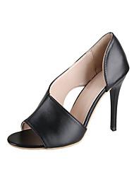 povoljno -Žene Cipele na petu Ljeto Pumps cipele Peep Toe Ležerne prilike Dnevno PU Obala / Crn / Pink