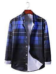 billige -Herre Ternet Skjorte Basale Hawaiiansk Daglig I-byen-tøj Blå / Rød