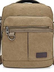 cheap -Men's Bags Canvas Shoulder Messenger Bag Crossbody Bag Canvas Bag Daily Outdoor Black Army Green Khaki Coffee