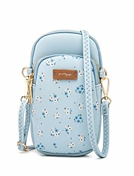 cheap -Women's Bags PU Leather Polyester Crossbody Bag Pattern / Print 2020 Holiday Outdoor Black Blue Blushing Pink Gray