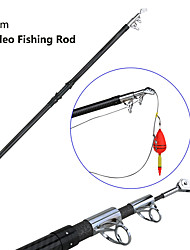 cheap -3.6m Video Fishing Rod  Carbon Fiber Ultralight Hard 3 Section Fiber Max Power 65kg With Wiring Pulley