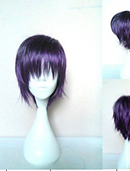 cheap -Cosplay Costume Wig Synthetic Wig Cosplay Wig Yato Noragami Straight Cosplay Pixie Cut Layered Haircut Wig Short Purple Synthetic Hair 10 inch Women's Cosplay Synthetic Purple hairjoy