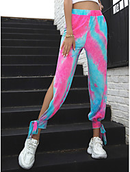 cheap -Women's Chinos Pants - Tie Dye Blushing Pink XS / S / M