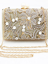 cheap -Women's Crystals Alloy Evening Bag 2020 Gold / Silver