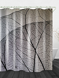 cheap -Leaf Vein Background Digital Print Waterproof Fabric Shower Curtain For Bathroom Home Decor Covered Bathtub Curtains Liner Includes With Hooks 72 Inch